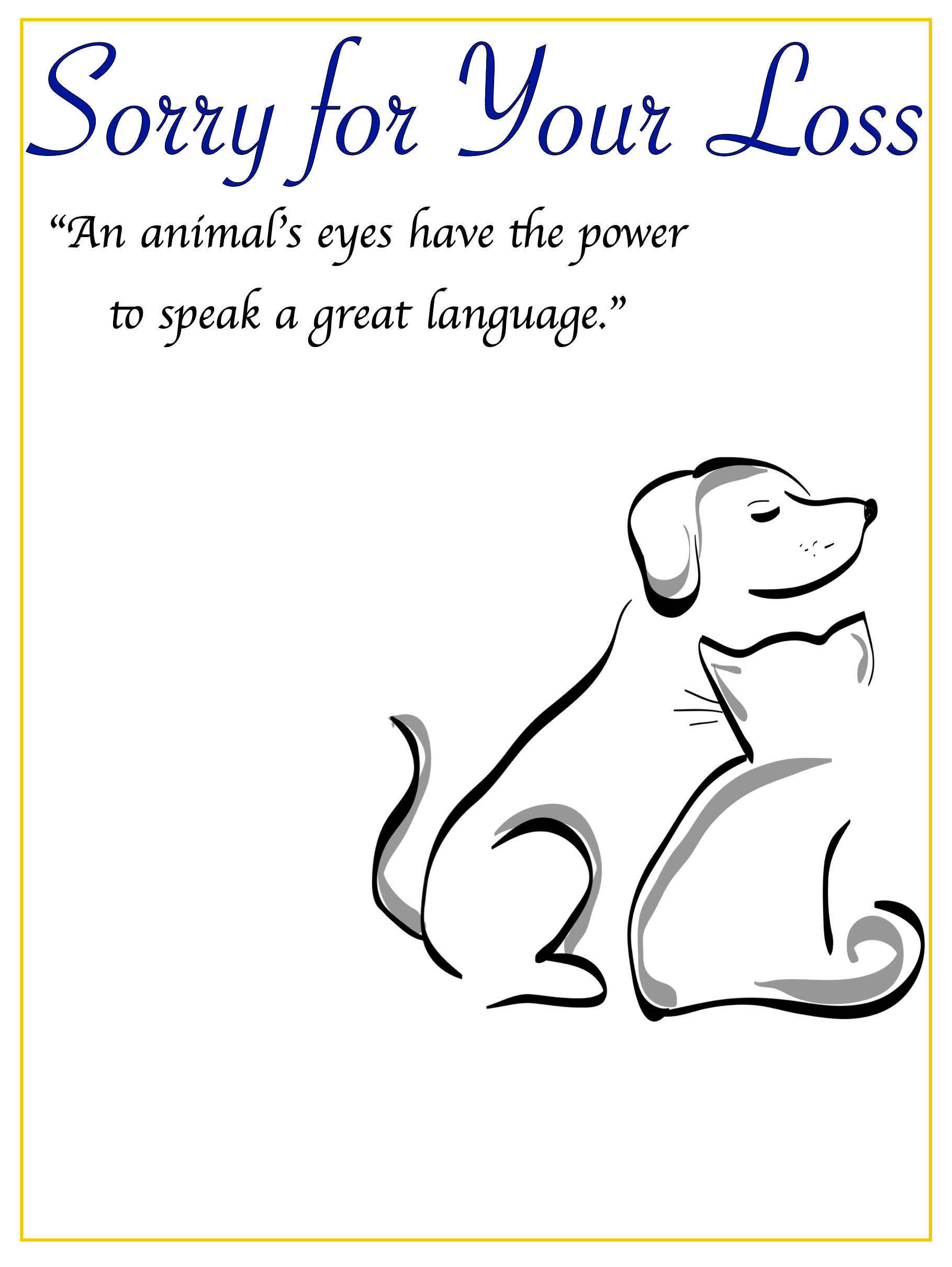free online pet sympathy card template